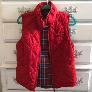 The cutest red puffer vest!